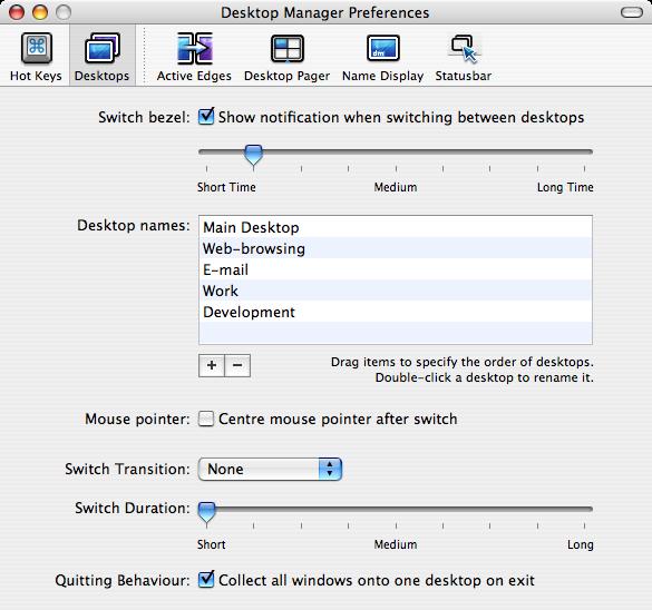 MacOS X | デスクトップマネージャ